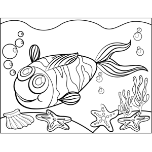 Diving Fish coloring page
