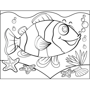 Excited Clownfish coloring page