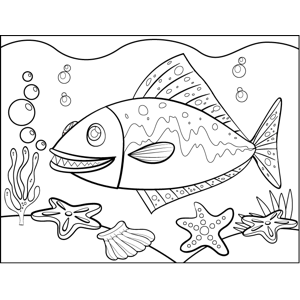 Fanged Fish coloring page