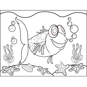 Fish and Seaweed coloring page