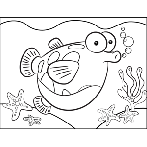Fish with Big Belly coloring page