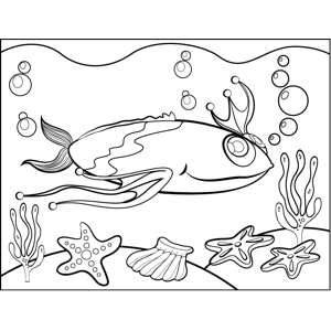 Fish with High Head Fin coloring page