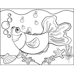 Fish with Large Tail coloring page