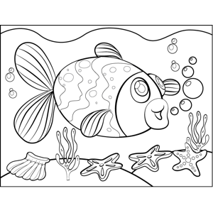 Flapping Fish coloring page