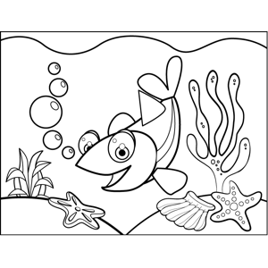 Friendly Fish coloring page