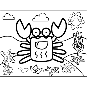 Grinning Crab coloring page