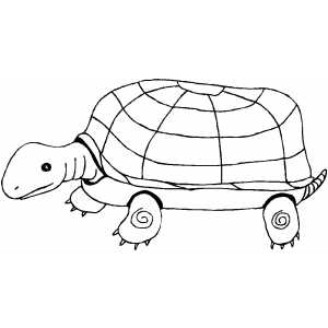 Marching Turtle coloring page