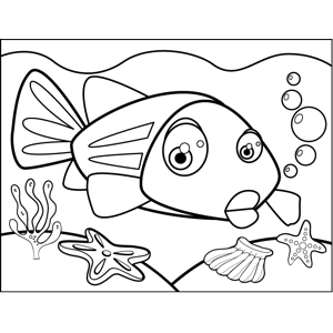 Nervous Fish coloring page
