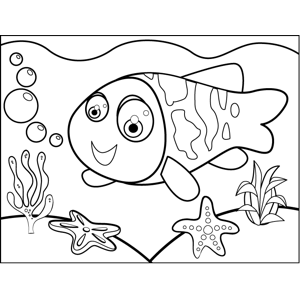 Patterned Fish coloring page