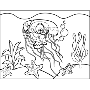 Pretty Jellyfish coloring page