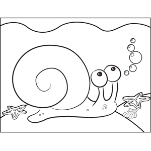 Sea Snail coloring page