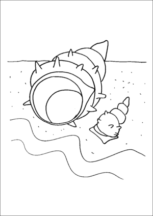 Seashells By The Shore coloring page