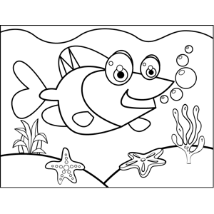 Short-Fin Fish coloring page