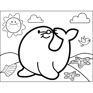 Smiling Seal coloring page