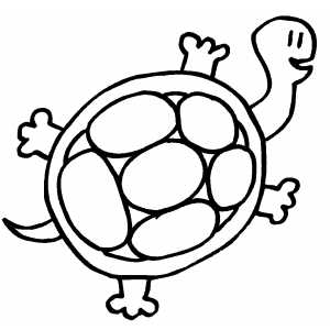 Smiling Turtle coloring page