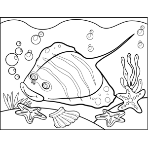 Striped Stingray coloring page