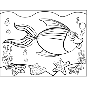 Swimming Fish coloring page