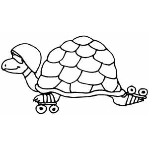 Tortoise Skating coloring page