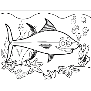 Tuna Bubbles coloring page