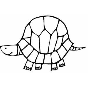 Turtle With Big House coloring page