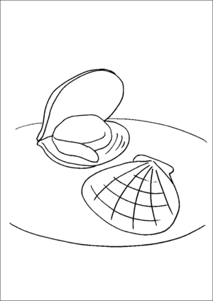 Two Clams coloring page