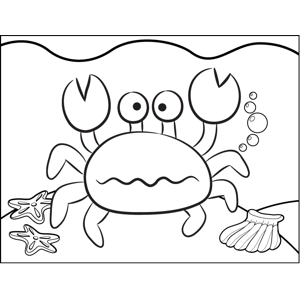 Unhappy Crab coloring page