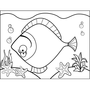 Upside Down Fish coloring page