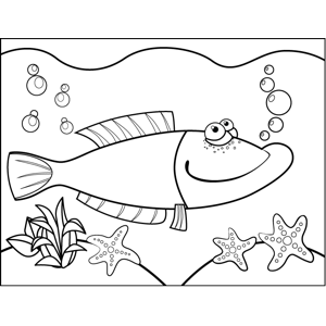 Wistful Fish coloring page
