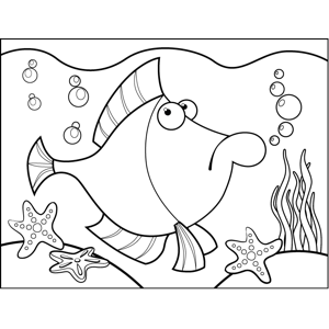 Worried Fish coloring page