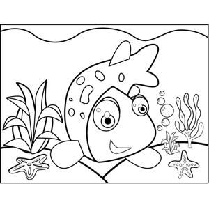 Wriggling Fish coloring page