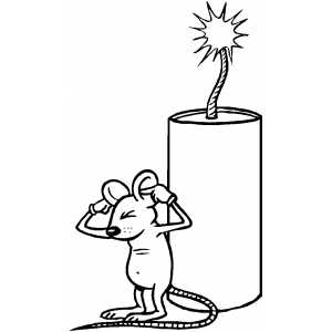 Firecracker And Mouse coloring page