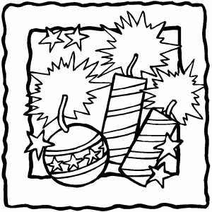 Firecrackers coloring page