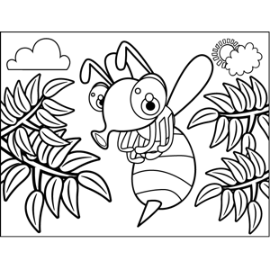 Bug with Stinger coloring page
