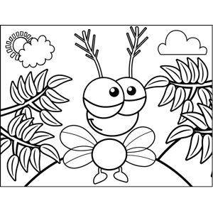 Cute Bug coloring page