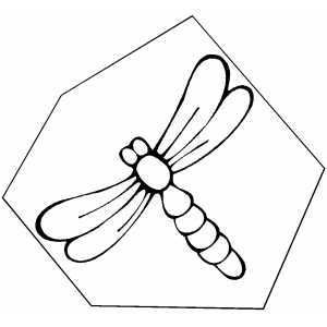 Dragonfly On Frame coloring page