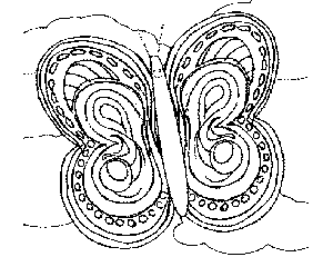 Friendly Butterfly coloring page