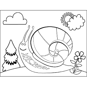 Happy Snail coloring page