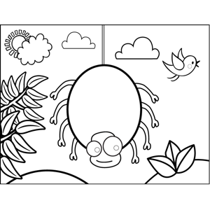 Happy Spider coloring page