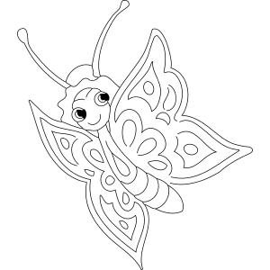 Pointy Winged Butterfly coloring page