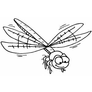 Smiling Dragonfly coloring page
