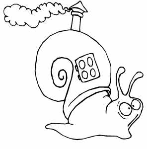 Snail House coloring page