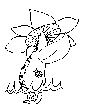 Snail and Ladybug Coloring Page