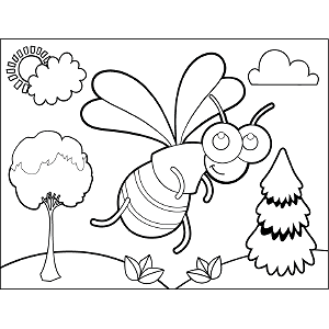 Wasp coloring page