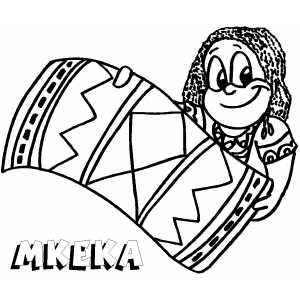 Mkeka coloring page