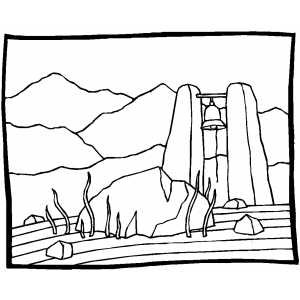 Bell In Field coloring page