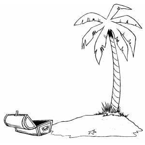 Deserted Island Coloring Page