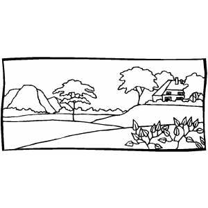 House On The Hill coloring page