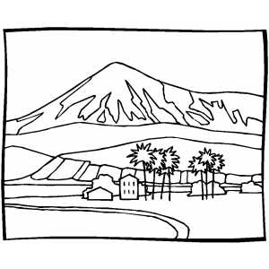 Coloring Pages Landscapes Mountains  Coloring Pages