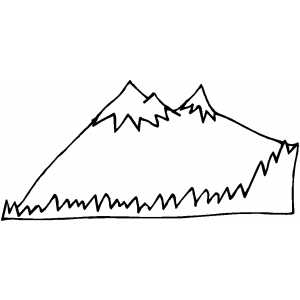 mountain coloring pages print - photo#34