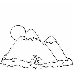 mountain coloring pages print - photo#32